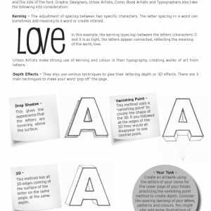 Typography - Single Worksheets - The Butcher Shop