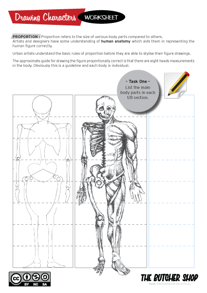 Figure Drawing Proportions Body Drawing Worksheet